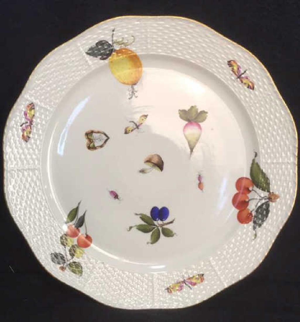 Handpainted HEREND HUNGARY Serving Plate