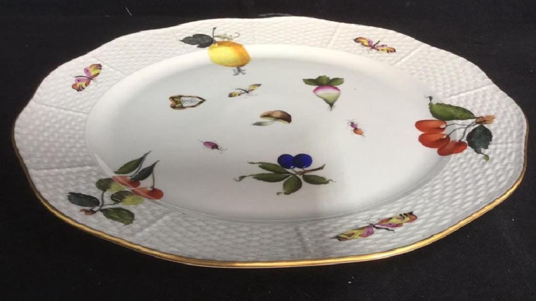 Handpainted HEREND HUNGARY Serving Plate - 2
