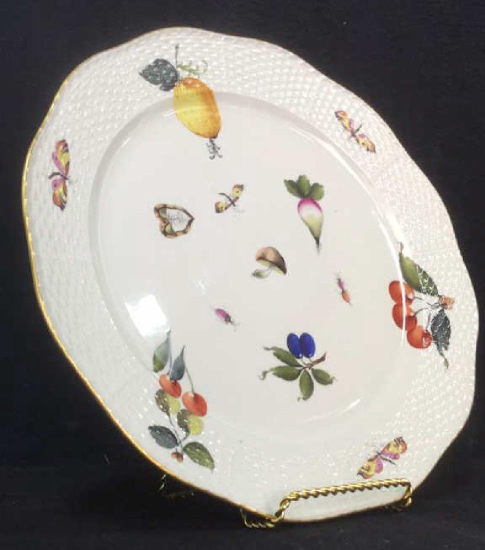 Handpainted HEREND HUNGARY Serving Plate - 3