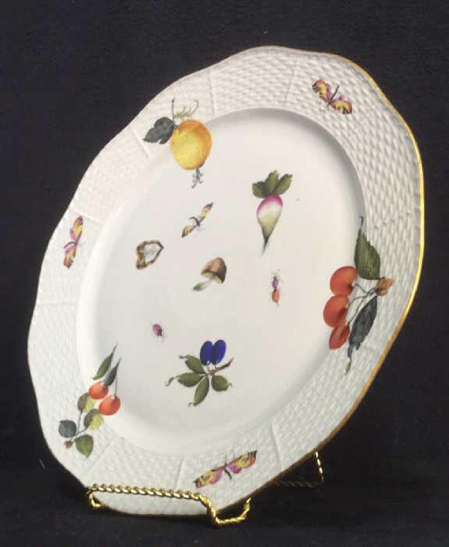 Handpainted HEREND HUNGARY Serving Plate - 4