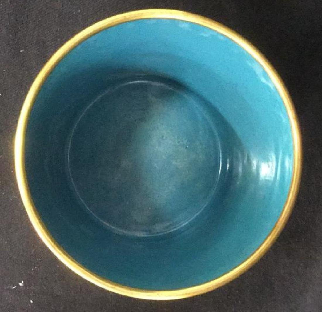 Chinoiserie Enameled Vase W Gold Toned Accents - 3