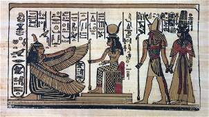 Egyptian Style Painting on Paper