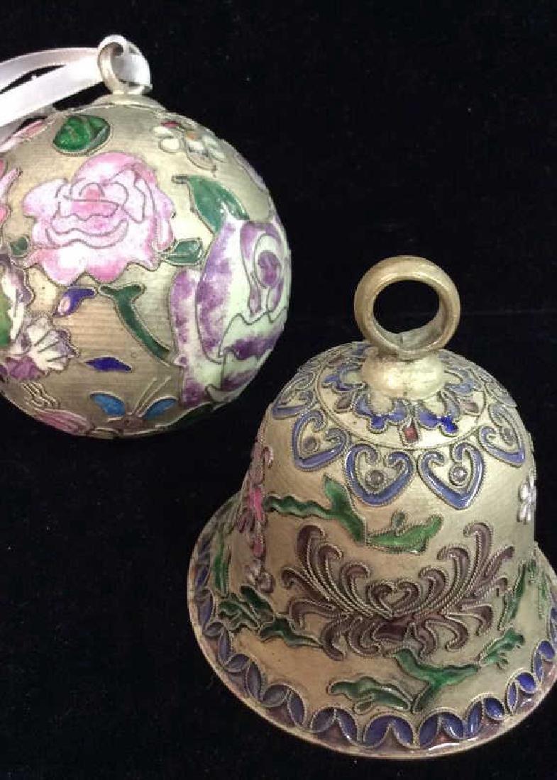 Vintage Enamel Cloisonné Ornaments