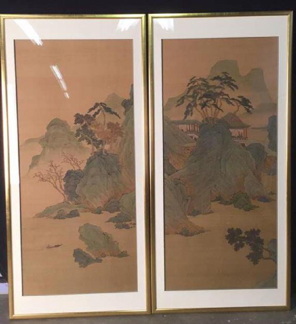 Lot 2 Traditional Chinese Silk Paintings.