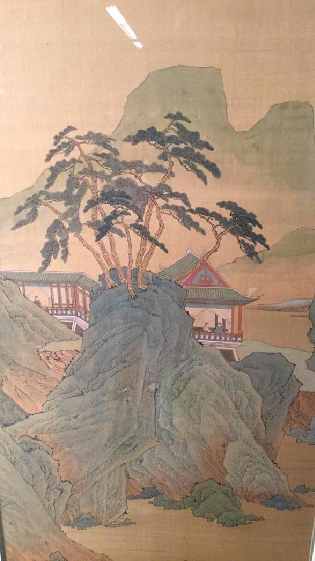 Lot 2 Traditional Chinese Silk Paintings. - 2