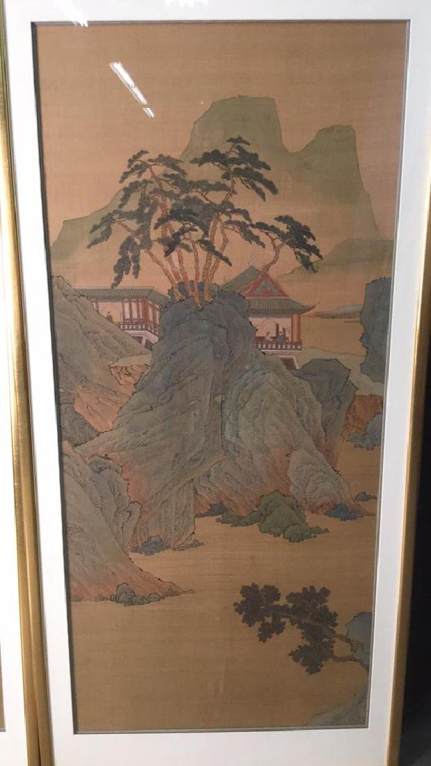 Lot 2 Traditional Chinese Silk Paintings. - 3