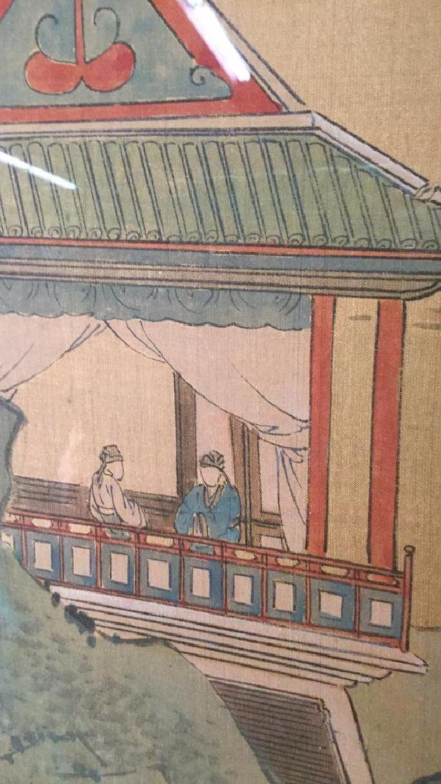 Lot 2 Traditional Chinese Silk Paintings. - 5