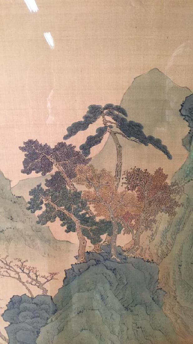 Lot 2 Traditional Chinese Silk Paintings. - 6