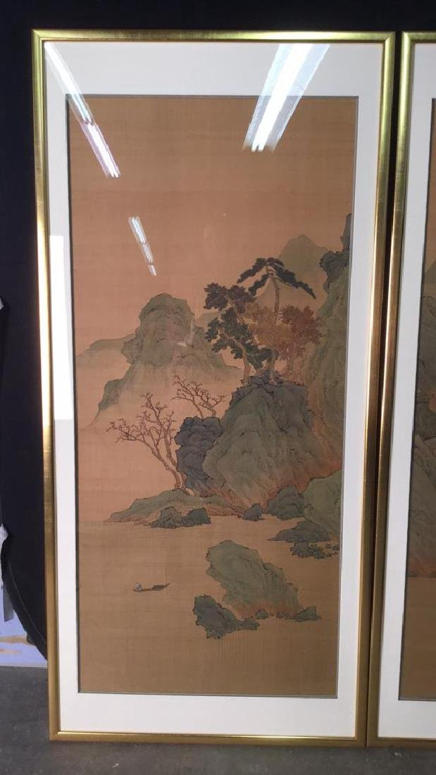 Lot 2 Traditional Chinese Silk Paintings. - 7