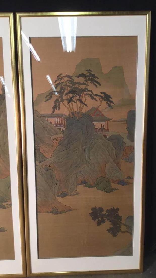 Lot 2 Traditional Chinese Silk Paintings. - 8