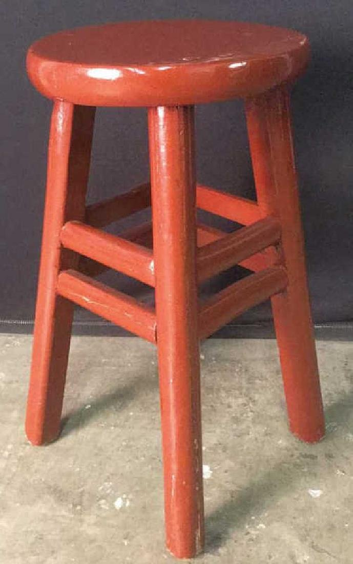 Red Lacquer Chinese Stool