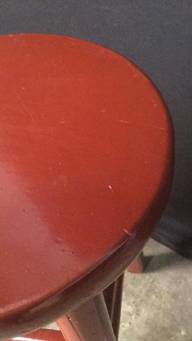 Red Lacquer Chinese Stool - 7