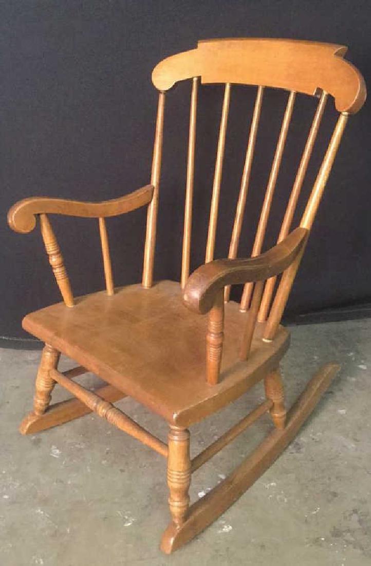 Child's Wooden Rocking Chair - 2