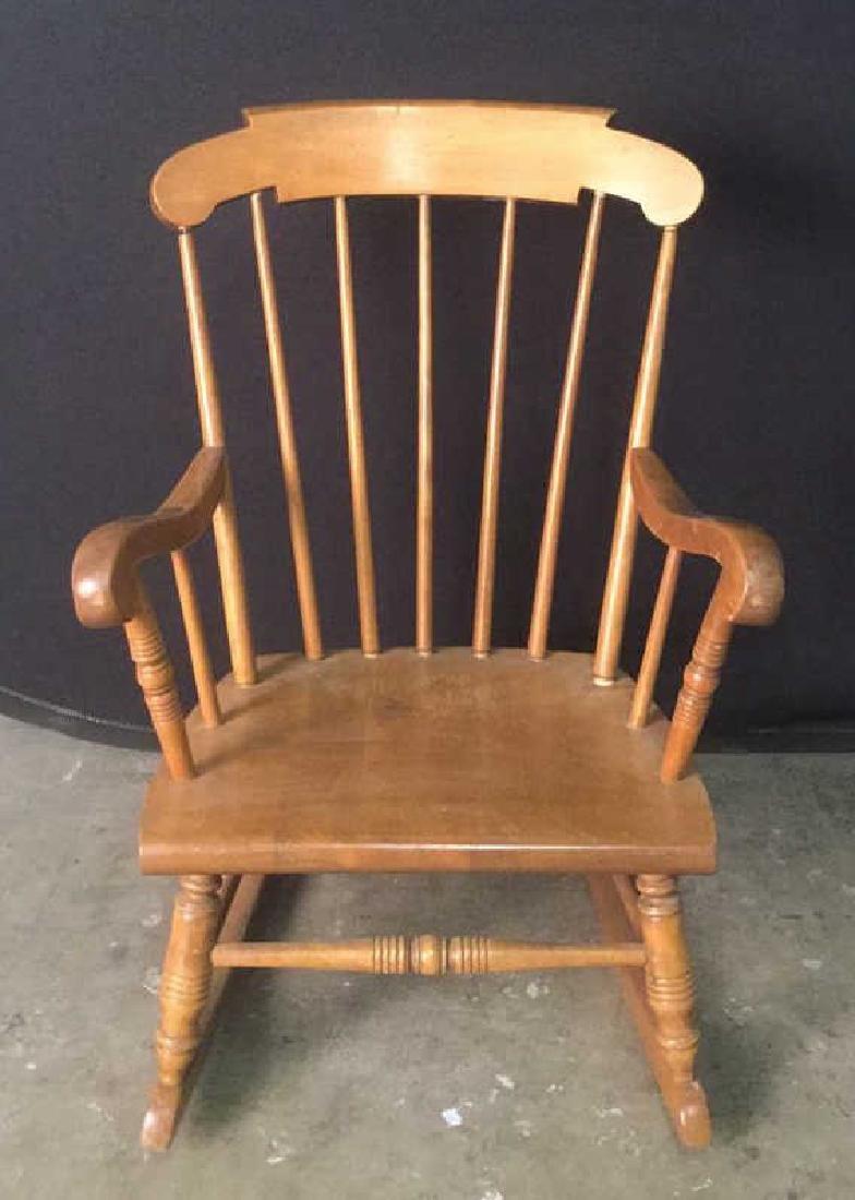 Child's Wooden Rocking Chair - 3