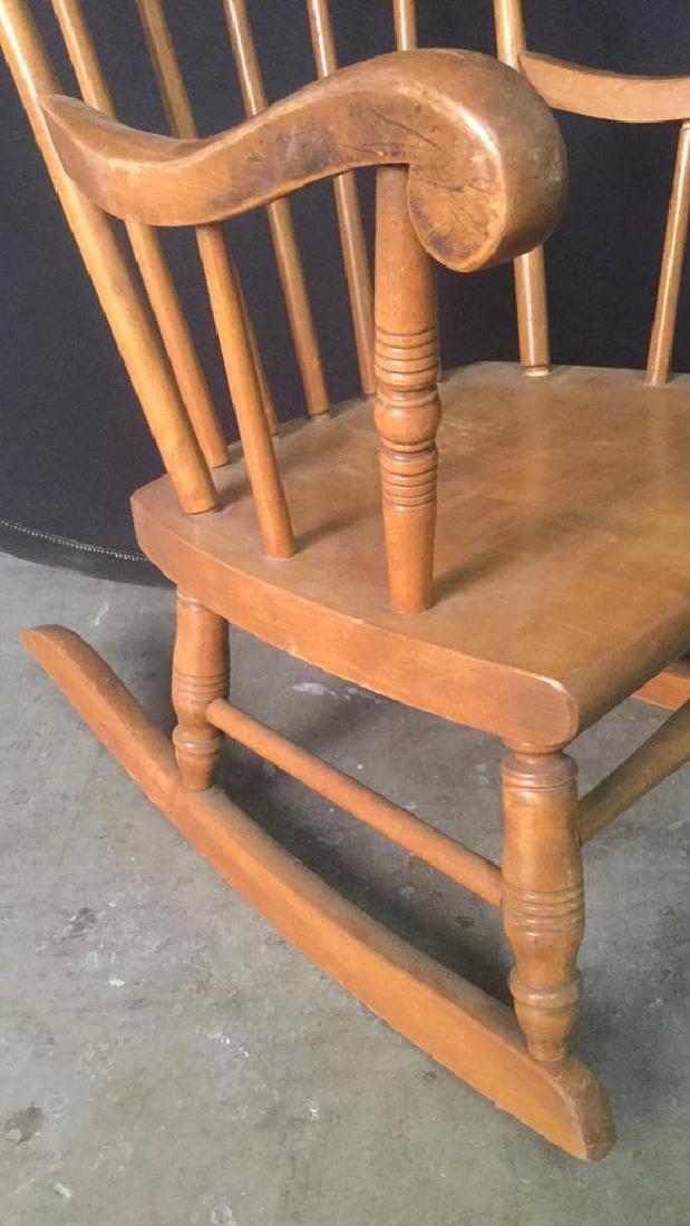 Child's Wooden Rocking Chair - 4