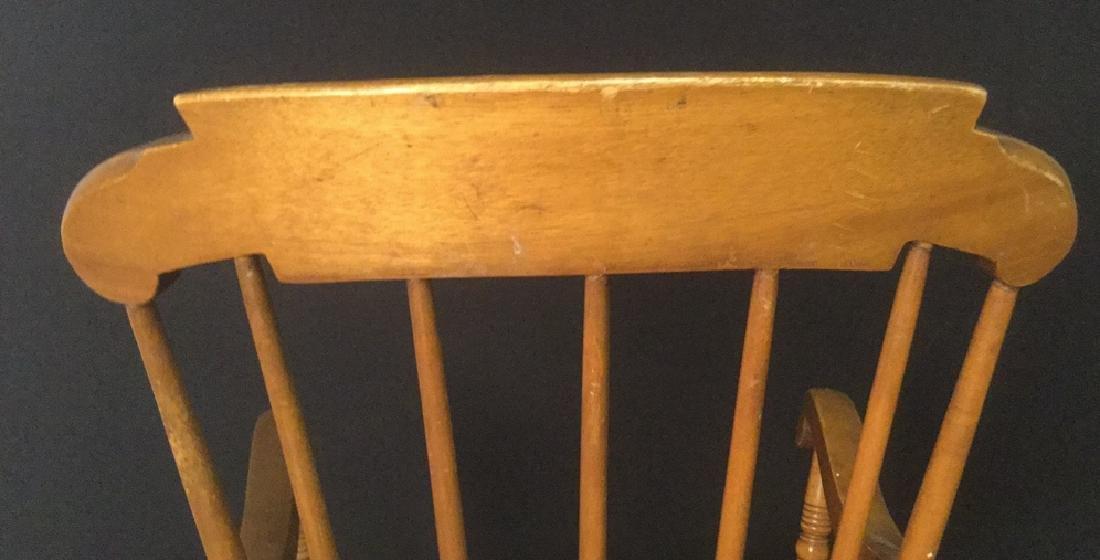 Child's Wooden Rocking Chair - 9