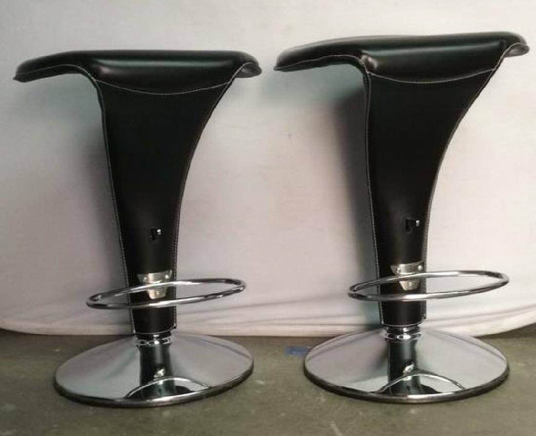 Pair Cattelan Italia Leather Boss Stools - 2