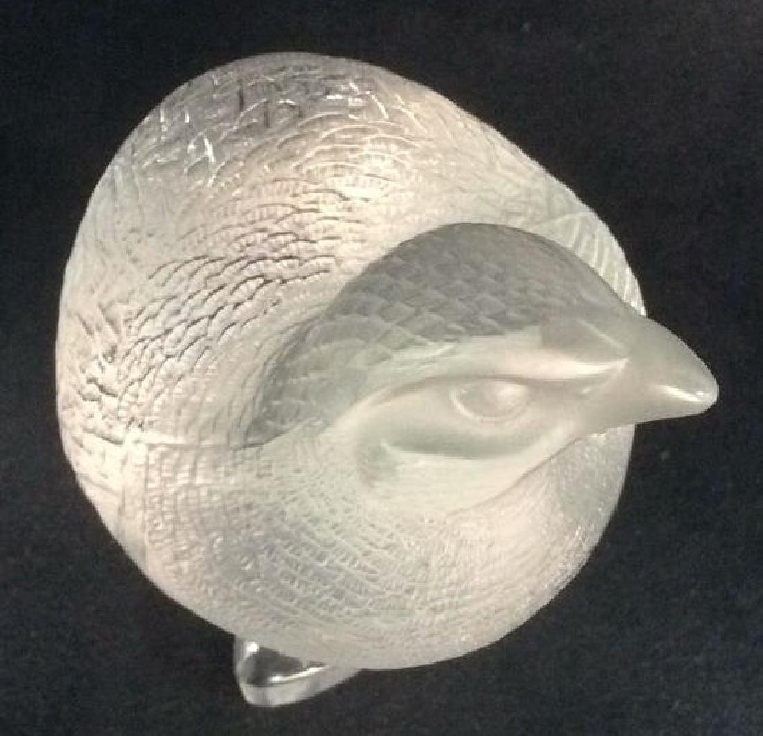 LALIQUE FRANCE Crystal Quail Partridge Bird - 10