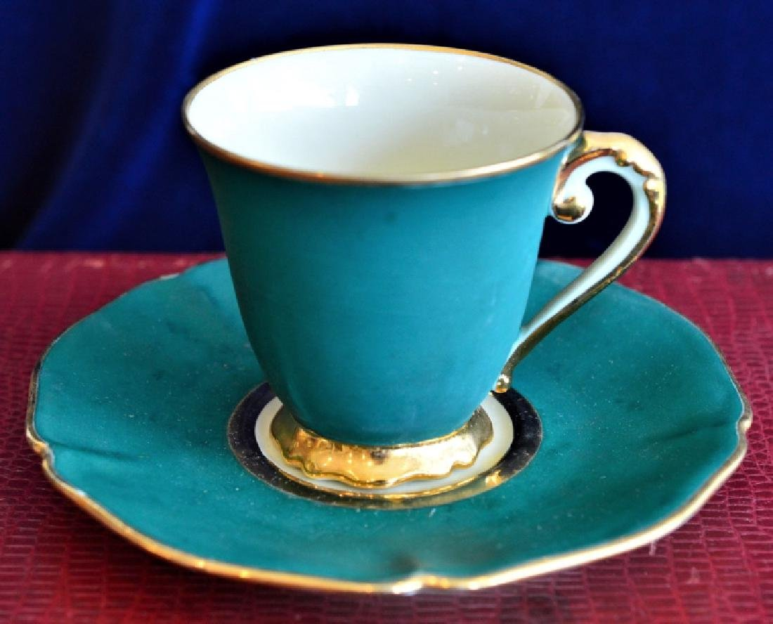 Antique Demitasse Cup & Saucer Set - 3
