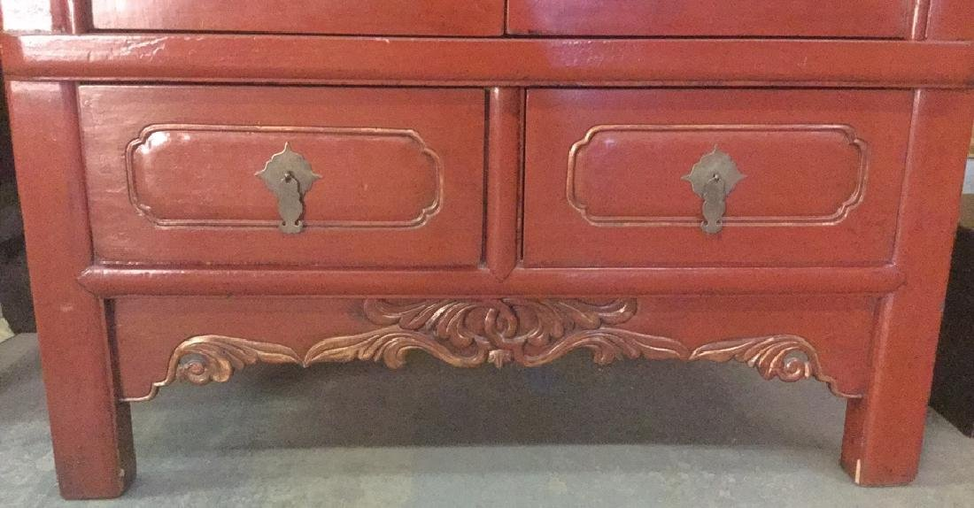 19th Century Chinese Red Lacquer Wedding Chest - 6