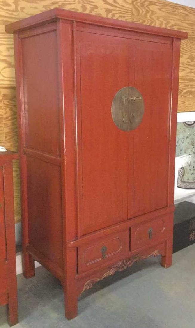 19th Century Chinese Red Lacquer Wedding Chest - 8