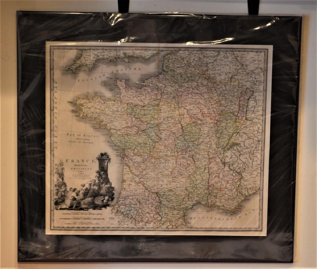 1826 Second Edition Print of Map of France Divided