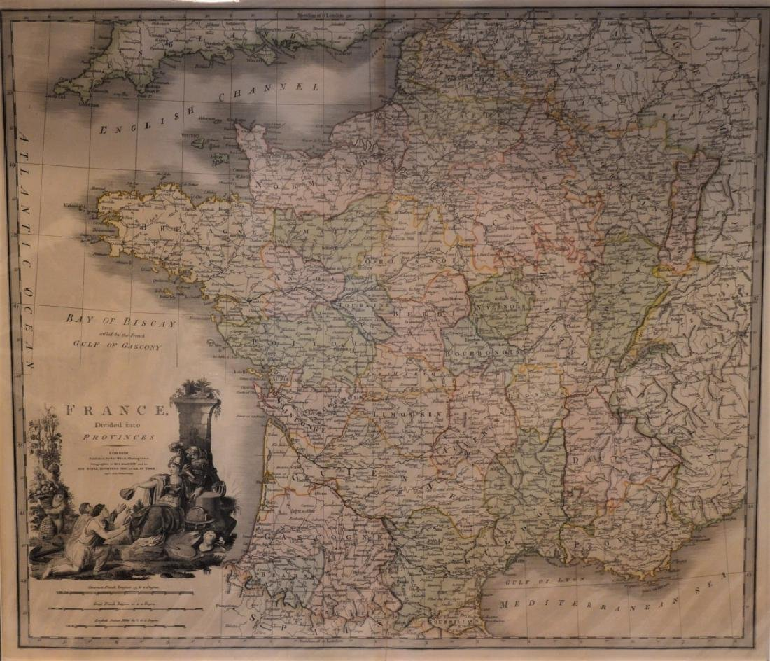 1826 Second Edition Print of Map of France Divided - 2
