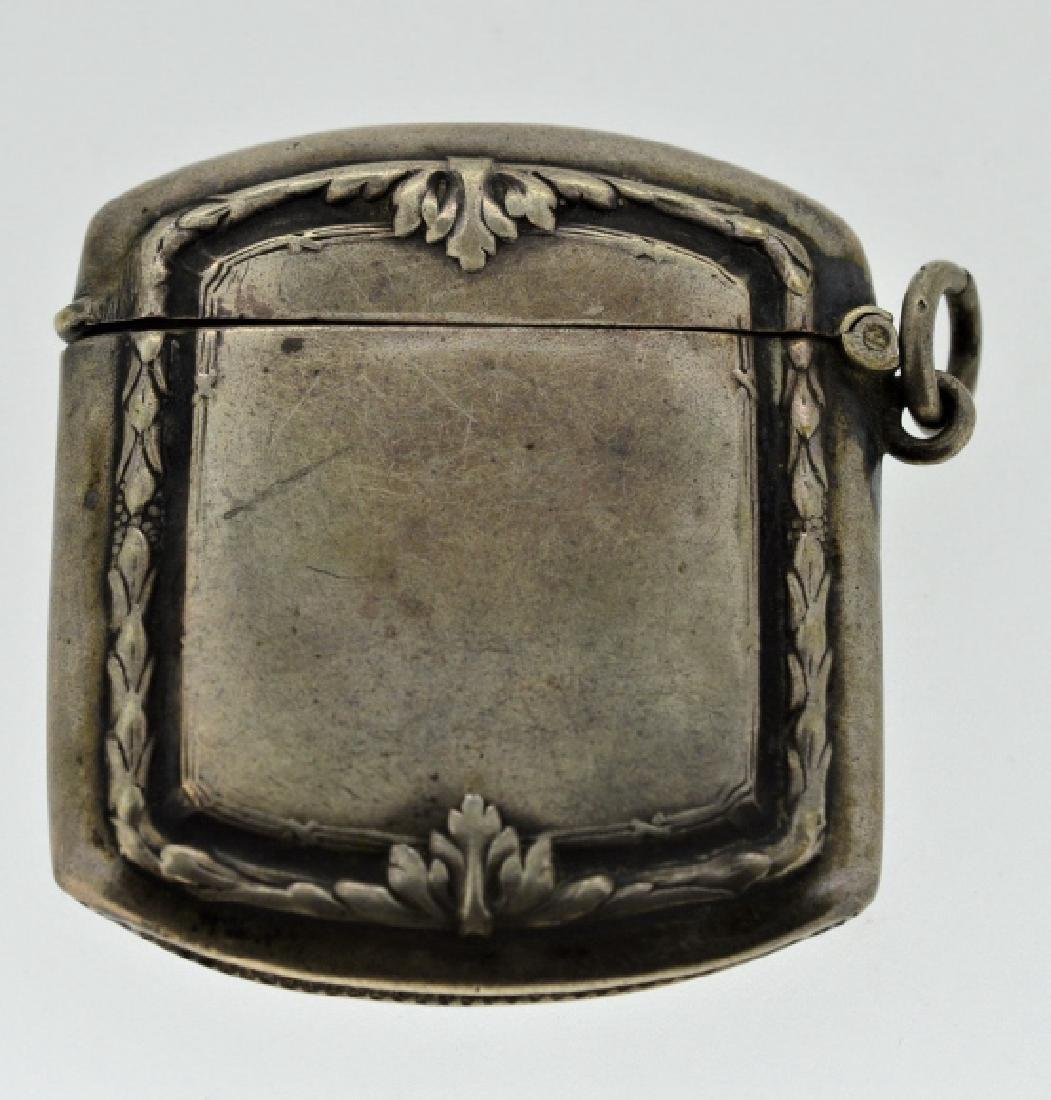 19th Century Silver Match Safe