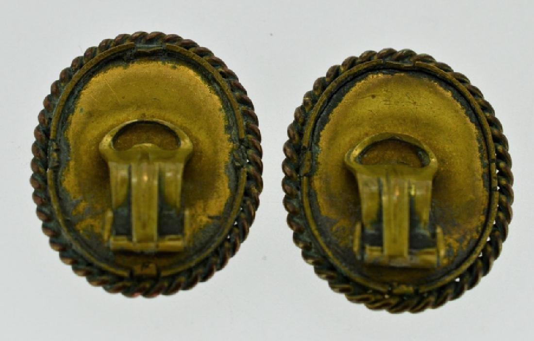 Pre-1900 Ladies Hand Painted Earrings - 2