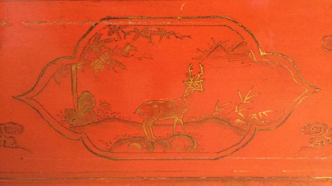 19th Century Antique Chinese Red Lacquer Cabinet - 7