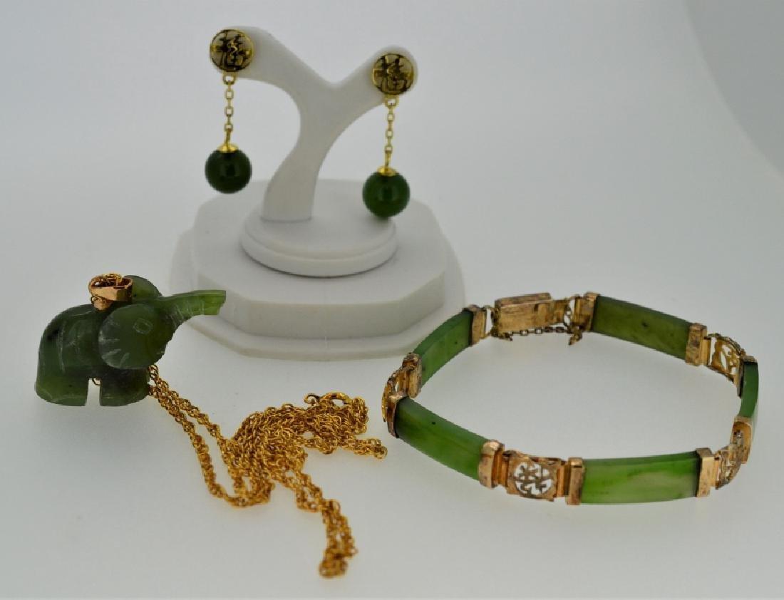 Jade Elephant Necklace & Jade Jewelry Combination