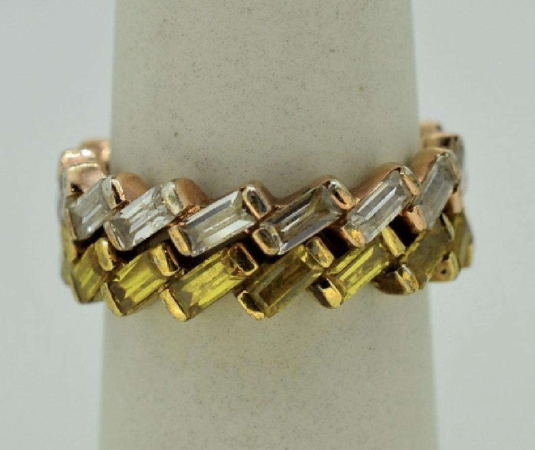 Nesting Silver Silver & Zirconia Zig Zag Ring