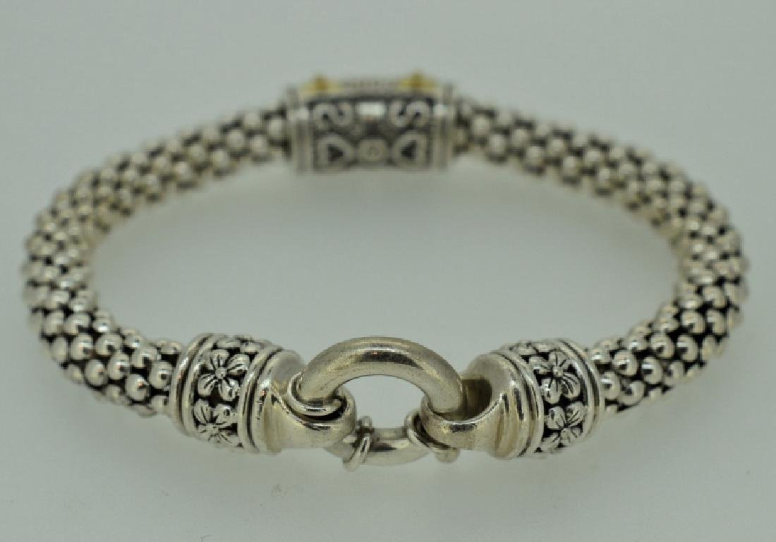 Sterling Silver Rope Bracelet with Clad & Zirconia - 2
