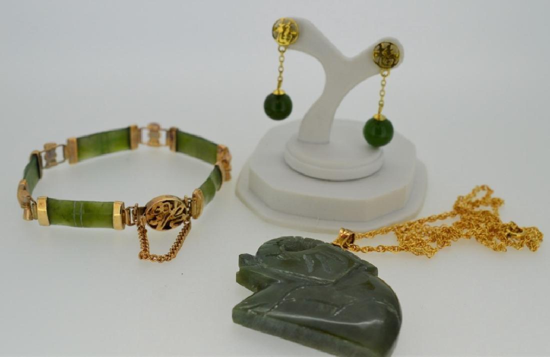 Large Jade Elephant Necklace Jade Jewelry Combo