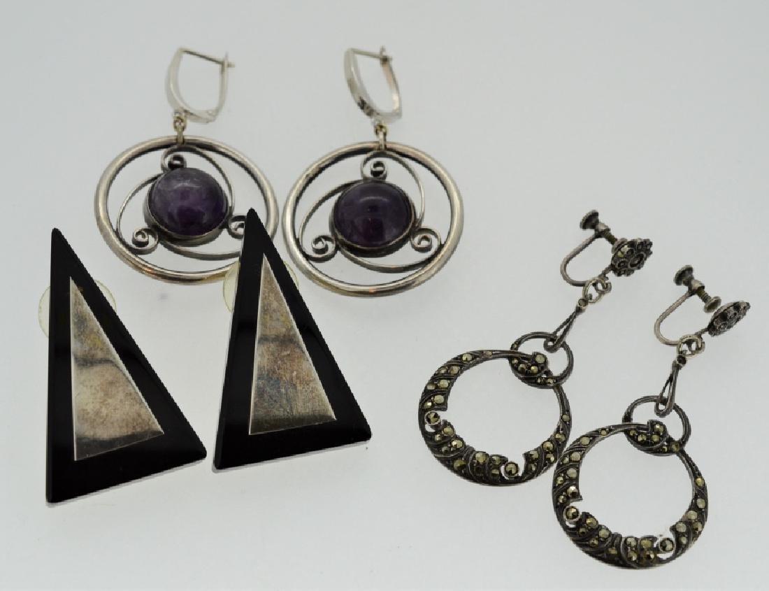 Lot Vintage Sterling Silver Earrings
