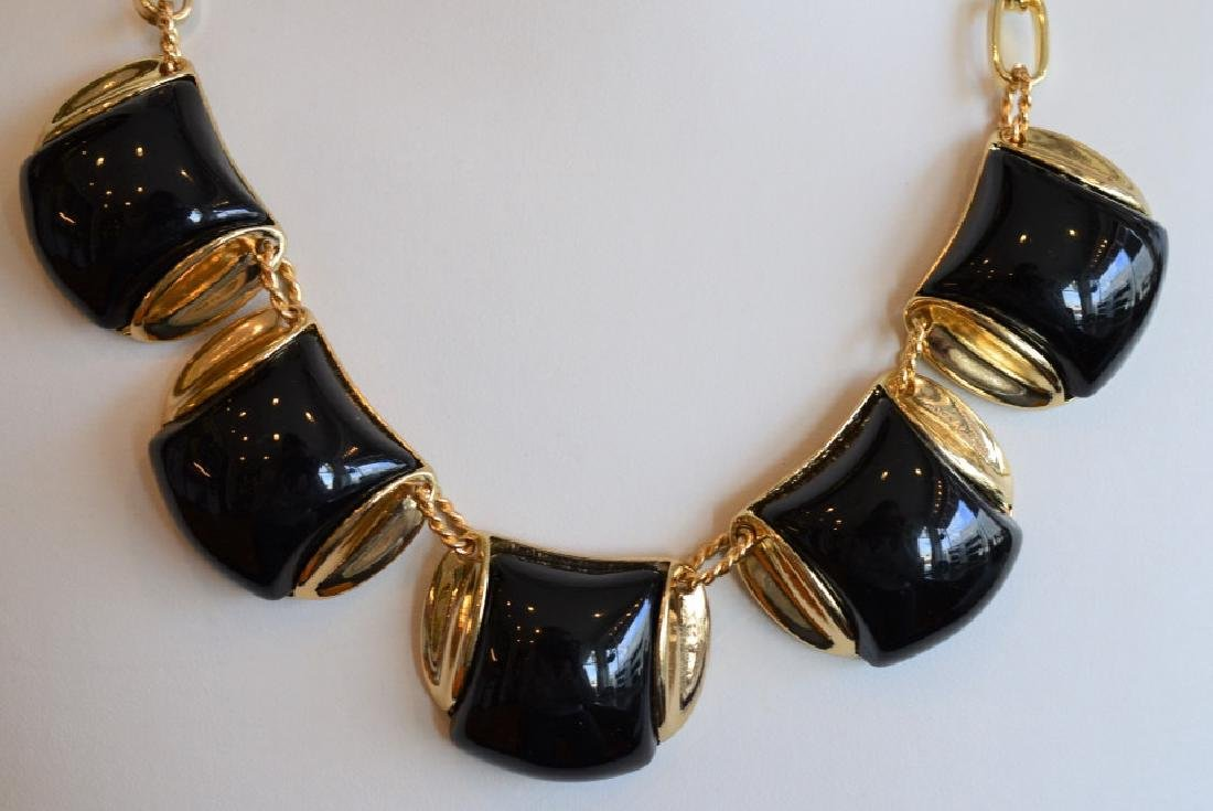 """Monet 18"""" Chunky Black & Goldtone Necklace - 2"""