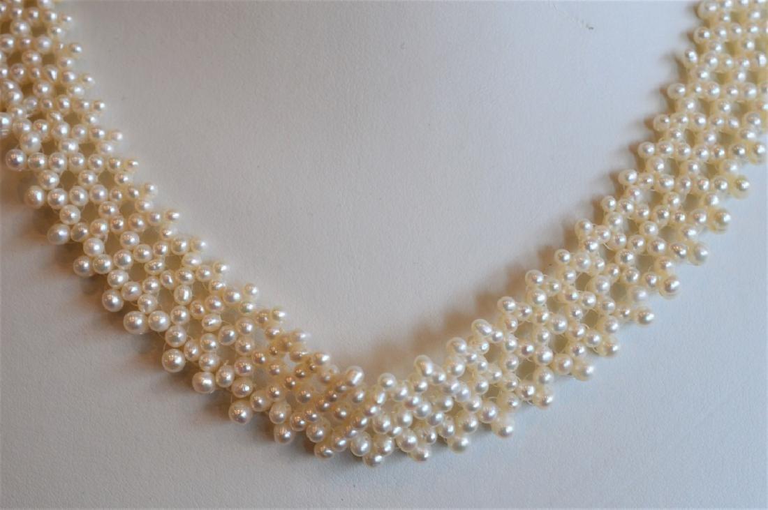 Romantic Pearl Lace Choker Necklace & Bracelet Set