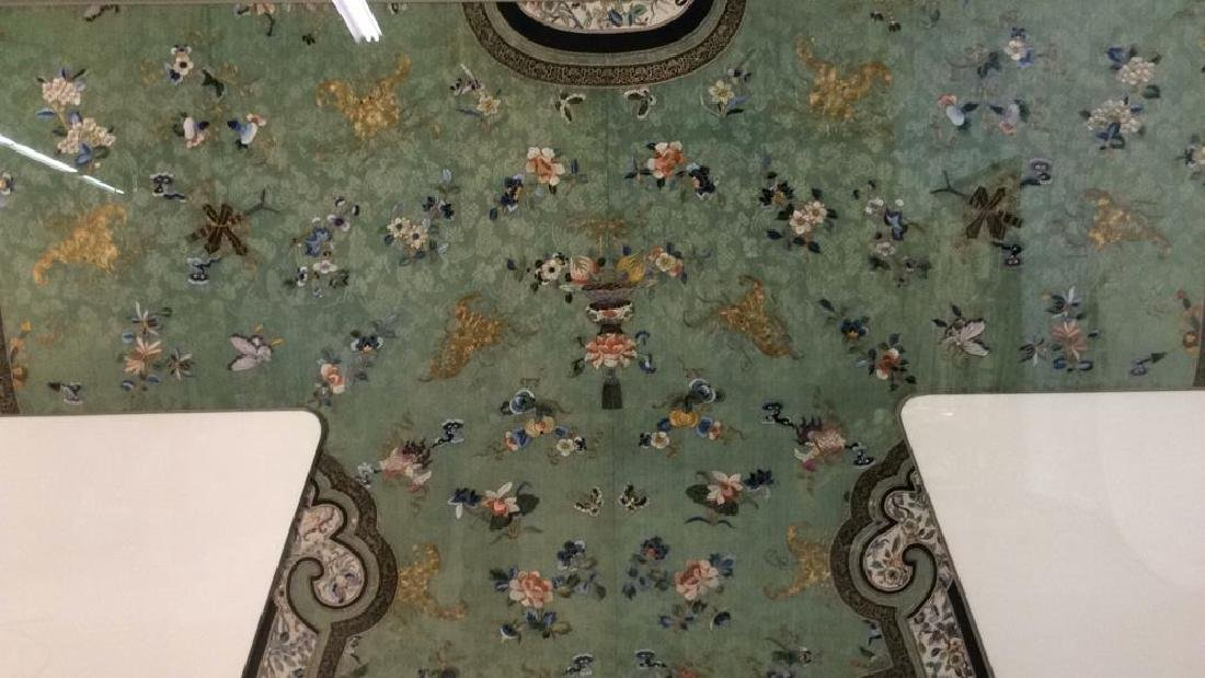 19th C Chinese Green Silk Ladies Jacket Framed - 3