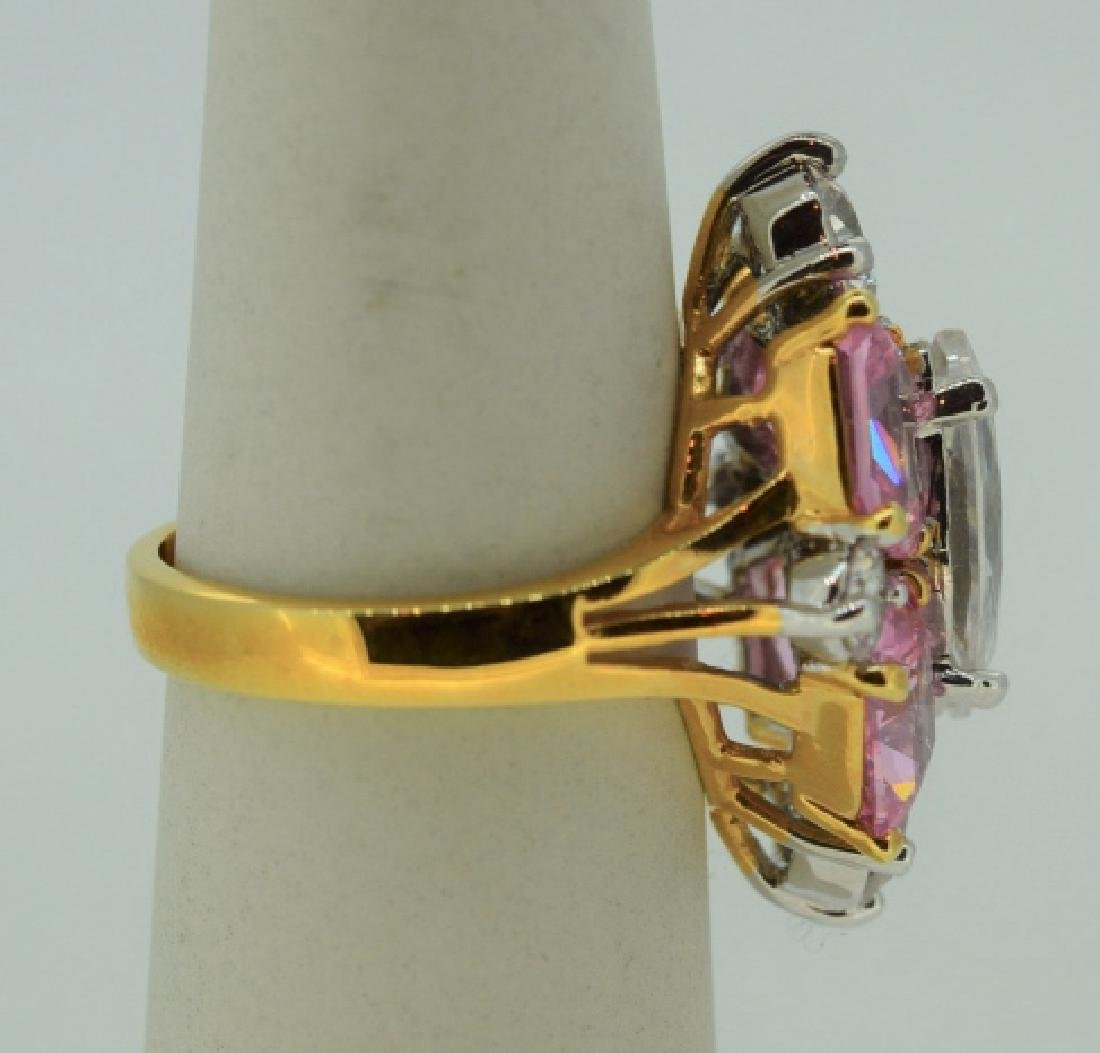 Glamour Ring in Gold Plated Sterling Silver - 2