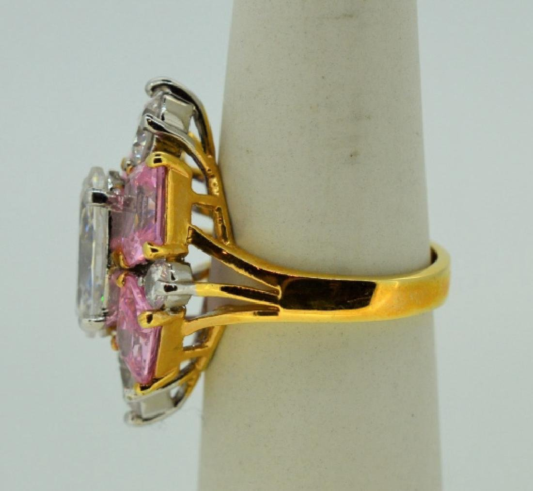 Glamour Ring in Gold Plated Sterling Silver - 3