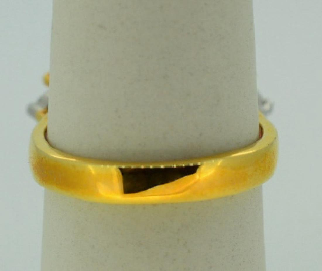 Glamour Ring in Gold Plated Sterling Silver - 4