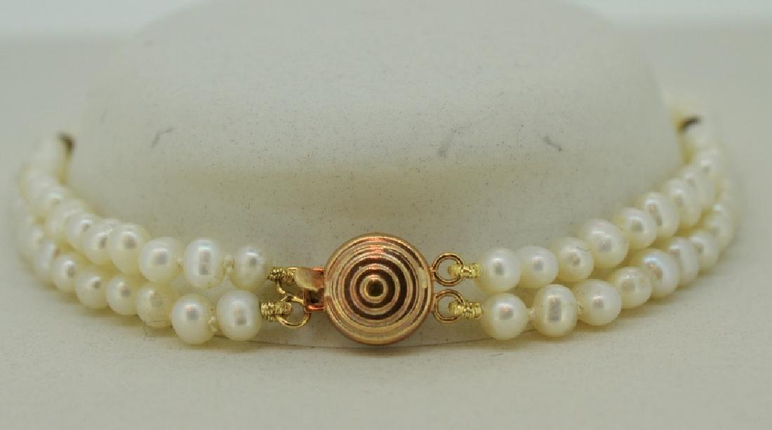 Petite Double Strand Classic Pearl Bracelet