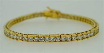 Yellow Gold Plated Tennis Bracelet With Zirconia