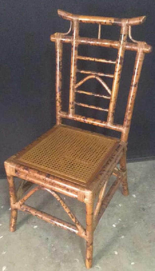Lot 2 Bamboo Chair And Writing Desk - 10