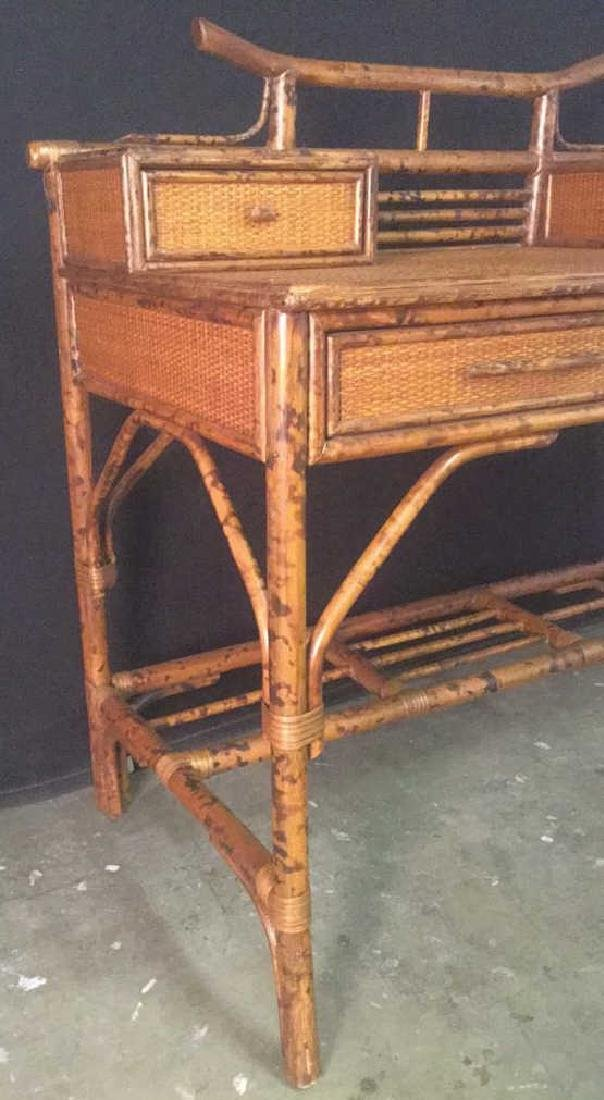 Lot 2 Bamboo Chair And Writing Desk - 4
