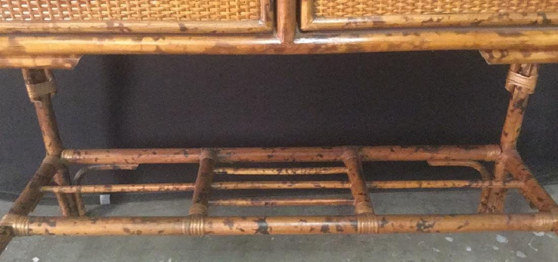 Lot 2 Bamboo Chair And Writing Desk - 7