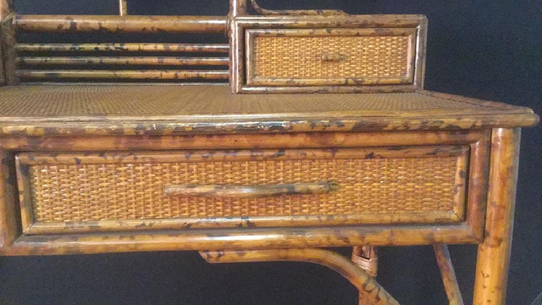 Lot 2 Bamboo Chair And Writing Desk - 8