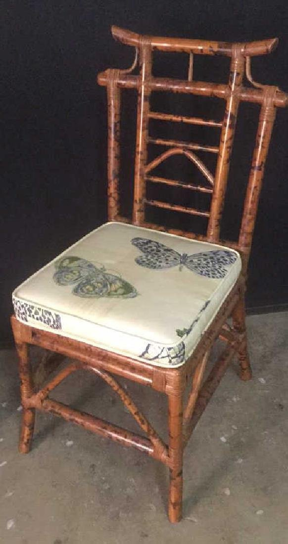 Lot 2 Bamboo Chair And Writing Desk - 9