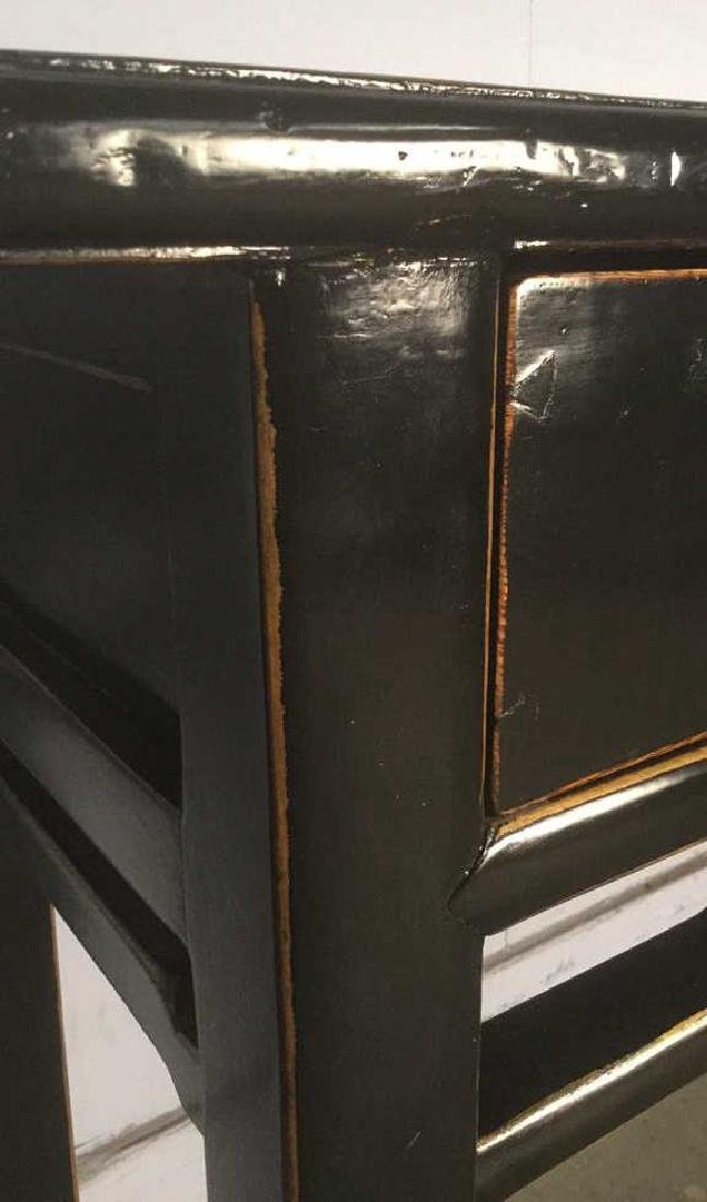 Chinese Black Lacquer Calligraphy Table - 3