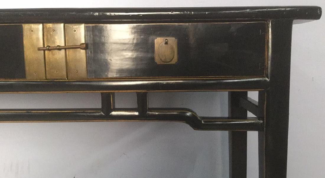 Chinese Black Lacquer Calligraphy Table - 8